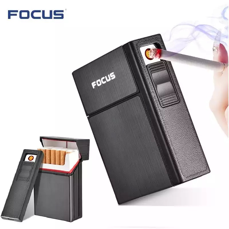 портсигар на 20 сигарет с зажигалкой купить