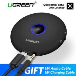 Приемник/передатчик Bluetooth 5.0 АptX LL 2в1 адаптер 3.5мм UGREEN CM108 (40762)приемник/передатчик Bluetooth 5.0 АptX LL адаптер 3.5мм UGREEN CM108 (40762) Kamstore.com.ua