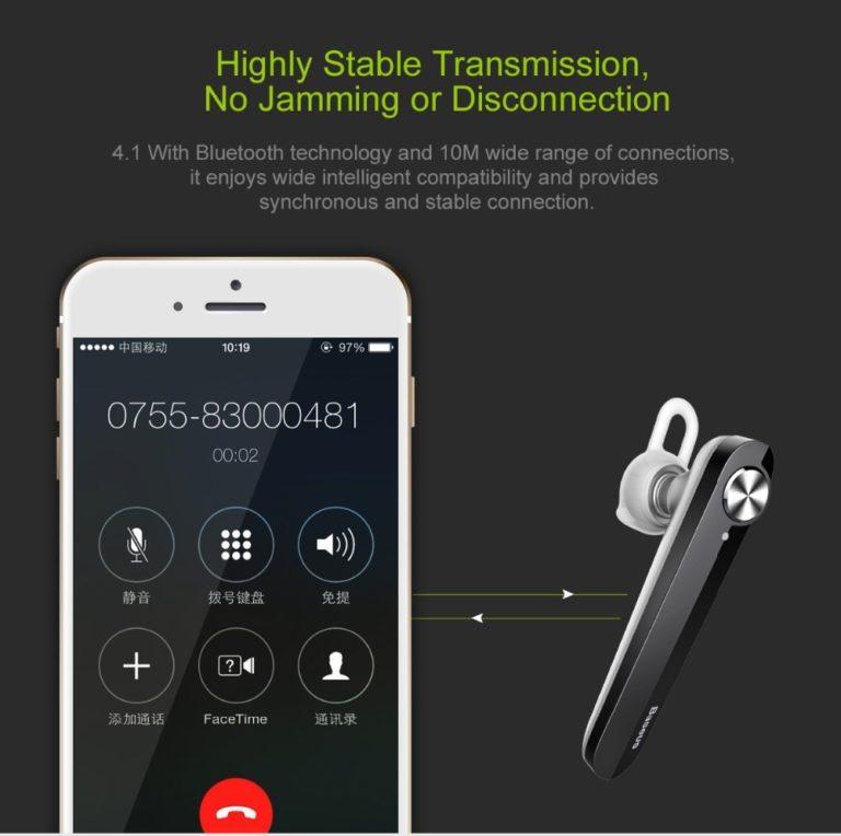 BASEUS гарнитура Bluetooth 4.1