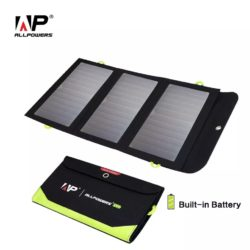 Зарядное устройство на солнечных батареях ALLPOWERS 21 Вт cо встроеным акумулятором 6 000 мАч