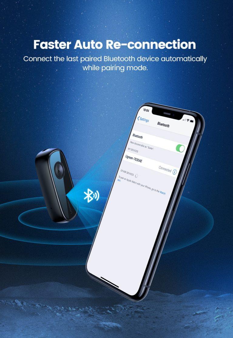 Audio Bluetooth Receiver Ugreen 70304 Kamstore.com.ua (16)