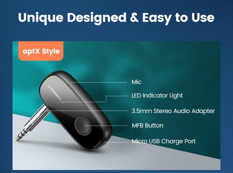 Audio Bluetooth Receiver Ugreen 70304 Kamstore.com.ua (17)