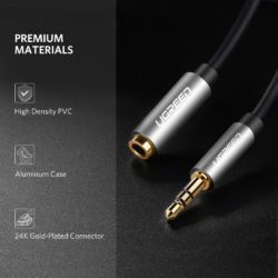Удлинительный кабель AUX 5m mini Jack 3,5 мм Ugreen (10542) Kamstore.com.ua