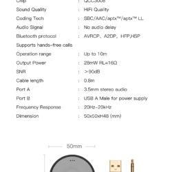 Bluetooth 5.0 AptX LL ресивер Ugreen CM125 40760 Kamstore.com.ua (4)