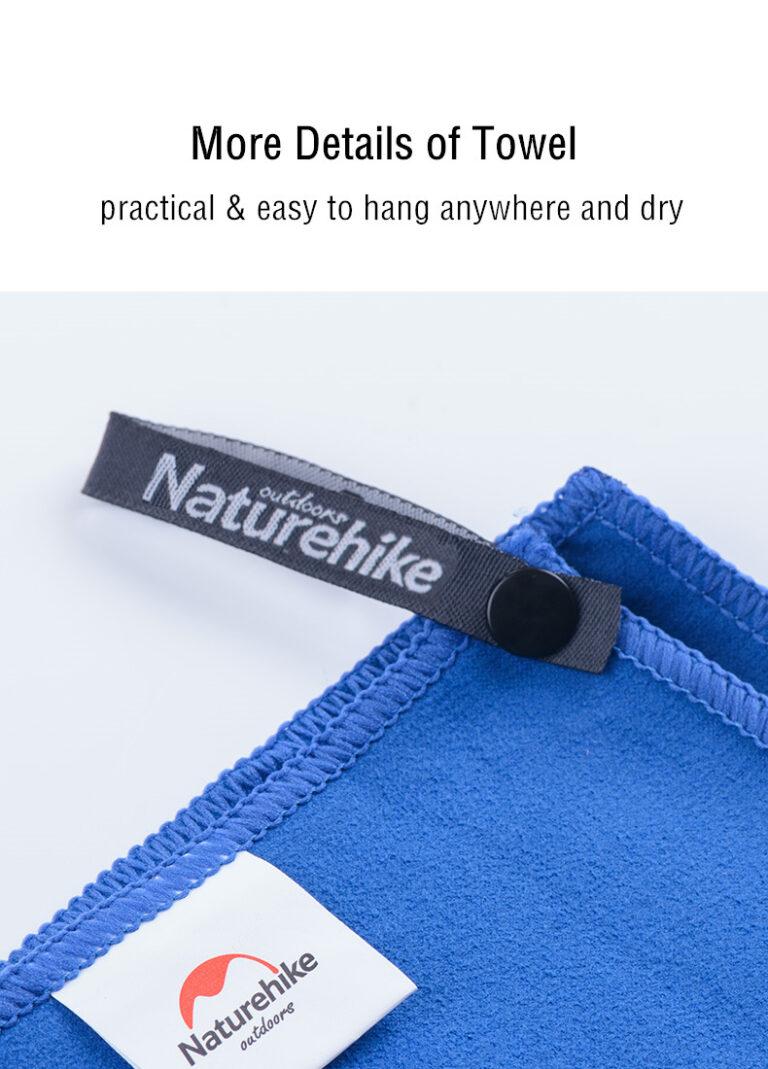 Быстросохнущее полотенце NatureHike NH15A003-P микрофибра Kamstore.com.ua (12)