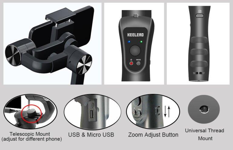 Стабилизатор для телефона стэдикам KEELEAD S5 Gimbal Kamstore.com.ua (15)
