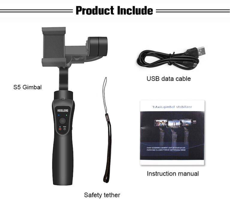 Стабилизатор для телефона стэдикам KEELEAD S5 Gimbal Kamstore.com.ua (17)