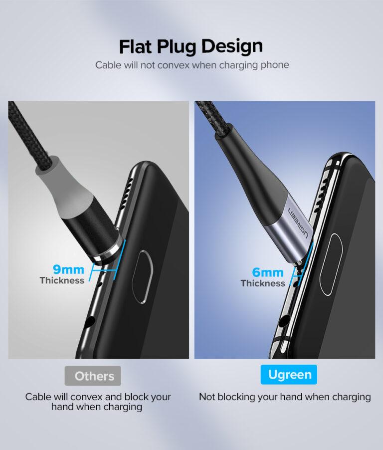 Магнитный кабель Micro USB Ugreen 60207.4
