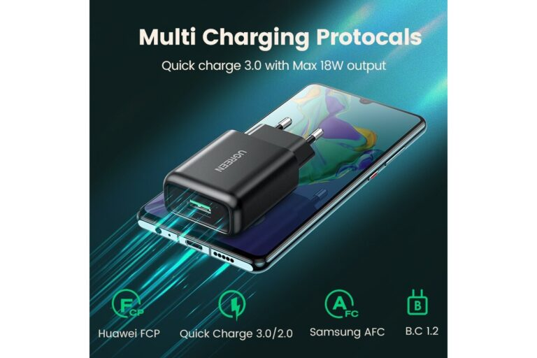 Сетевое зарядное устройство Ugreen USB Quick Charge 3.0 FCP 18W (UG-70273).2