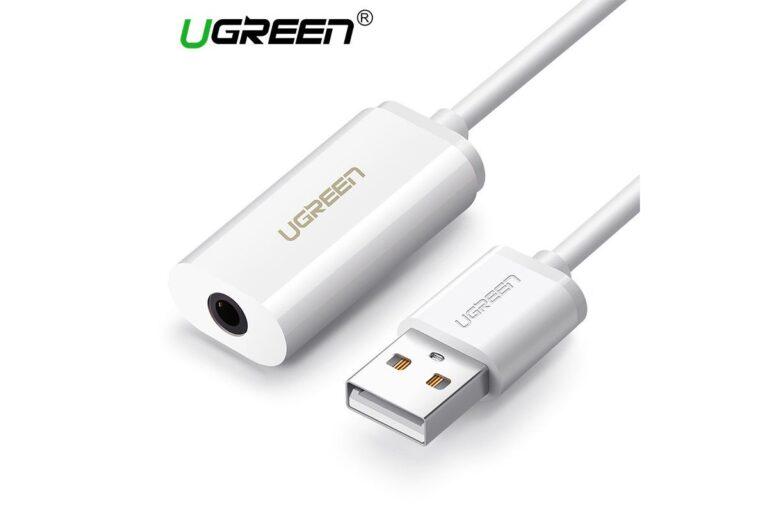 Внешняя звуковая карта USB 2 в 1 AUX Ugreen 30712.1