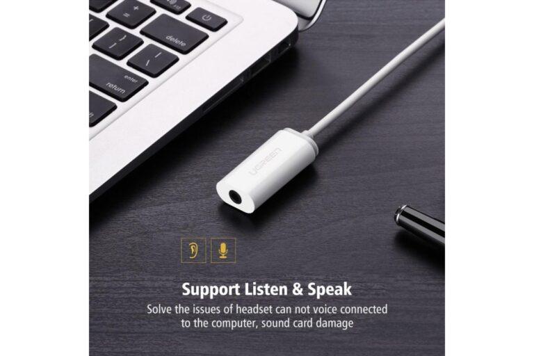 Внешняя звуковая карта USB 2 в 1 AUX Ugreen 30712.3
