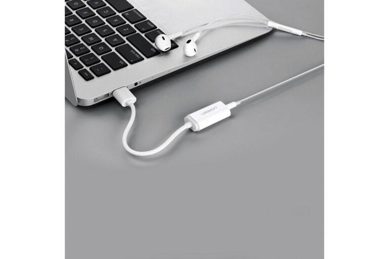 Внешняя звуковая карта USB 2 в 1 AUX Ugreen 30712.4