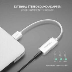 Внешняя звуковая карта USB 2 в 1 AUX Ugreen 30712.5