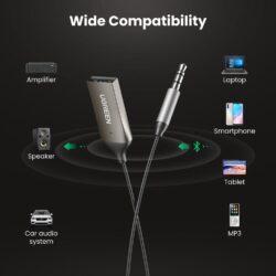 Bluetooth 5.0 ресивер (приемник) с микрофоном UGREEN 70601 kamstore.com.ua (6)