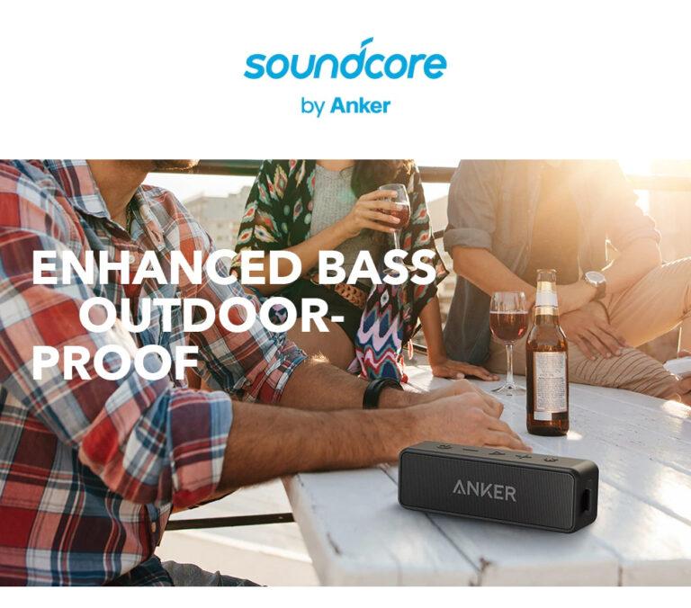 Портативная колонка ANKER SoundCore 2 Black IPX7 (A3105) Kamstore.com.ua (1)