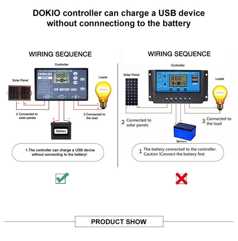 солнечная панель DOKIO 110Вт 12V с контроллером Kamstore.com.ua (1)