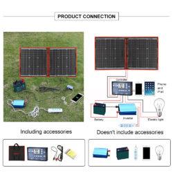солнечная панель DOKIO 110Вт 12V с контроллером Kamstore.com.ua (22)