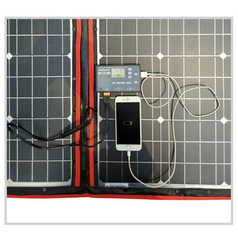 солнечная панель DOKIO 110Вт 12V с контроллером Kamstore.com.ua (7)