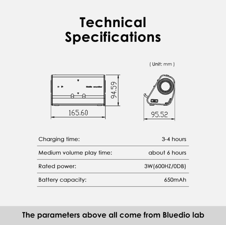 Портативный беспроводной SoundBar для телефона Bleudio MS (18)