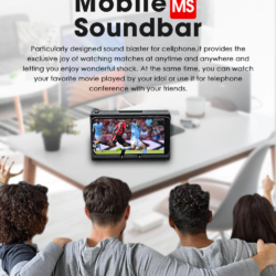 Портативный беспроводной SoundBar для телефона Bleudio MS (20)