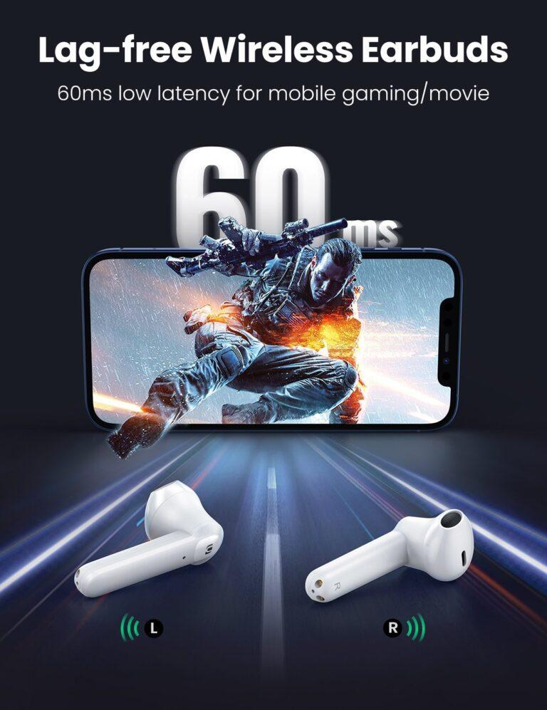 Беспроводные наушники TWS стерео HiFi ENC Bluetooth 5.0 UGREEN 80651 HiTune T2 (WS105) Kamstore.com.ua (1)