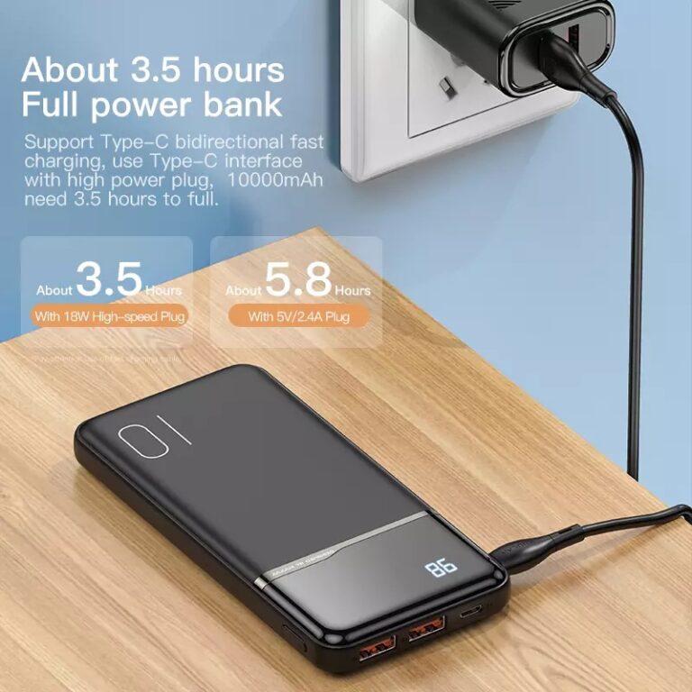 Power Bank Quick Charge 18W PD с LED индикацией KUULAA KL-YD01Q 10000 мАч Black Kamstore.com.ua (2)