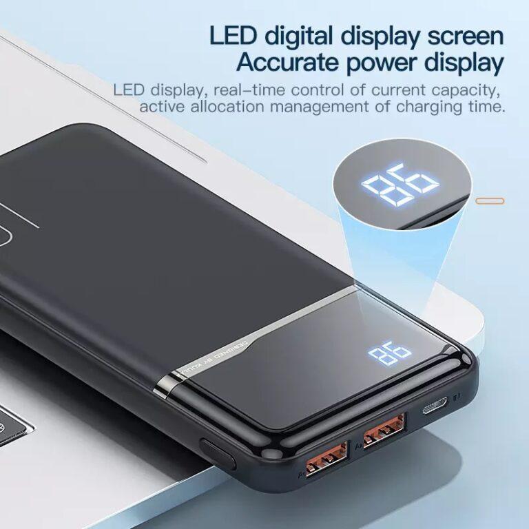 Power Bank Quick Charge 18W PD с LED индикацией KUULAA KL-YD01Q 10000 мАч Black Kamstore.com.ua (3)