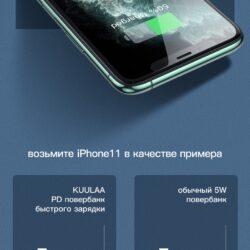 Power Bank быстрая зарядка QC 3.0 PD 3.0 18W KUULAA KL-YD12 10000 мАч Black Kamstore.com.ua (11)