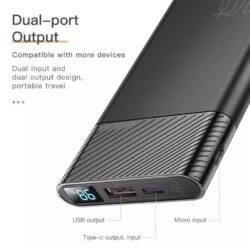 Power Bank быстрая зарядка QC 3.0 PD 3.0 18W KUULAA KL-YD12 10000 мАч Black Kamstore.com.ua (3)