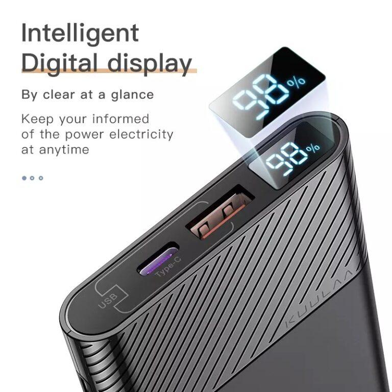 Power Bank быстрая зарядка QC 3.0 PD 3.0 18W KUULAA KL-YD12 10000 мАч Black Kamstore.com.ua (4)